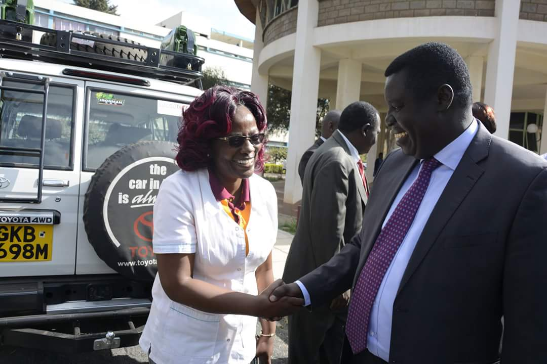 Dr Nyawira with the Director of KMTC at the World Diabetes Day events