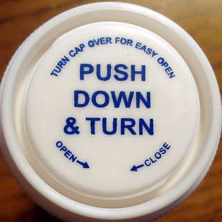 Push down and turn.  License     AttributionNoncommercialShare Alike Some rights reserved by mag3737