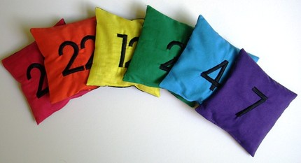 count and spell colour recognition beanbags by Cheryl