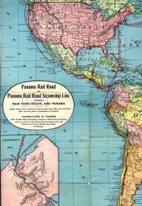 Map of N&S America showing Panama Rail