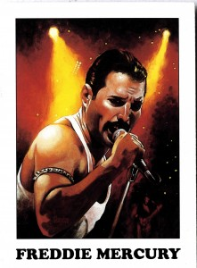 Freddie Mercury collectable card