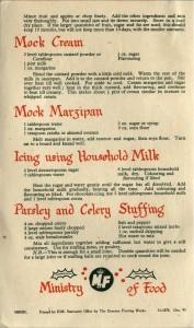 Xmas Recipes leaflet - back