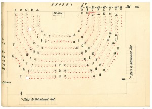 Ceremony seating plan
