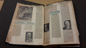 Newspaper death clippings of Ross