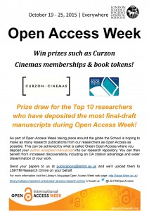 OA Week 2015 Prize Draw Poster