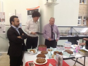 David Archer looking tense as his Bara Brith is judged.
