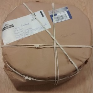 Trench Cake made and delivered to LSHTM from the British Postal Museum & Archvie