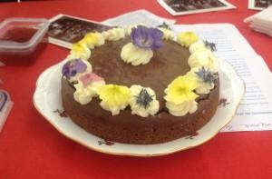Adrienne Burrough's winner Chocolate Cake
