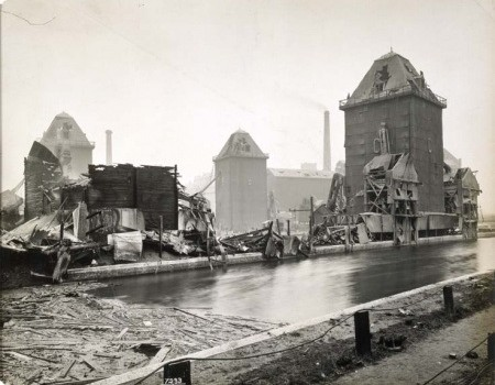 Silvertown after the explosion, 1917