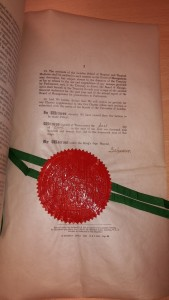 Charter of Incorporation signed April 1st 1924