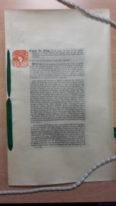 Charter of Incorporation, signed April 1st 1924