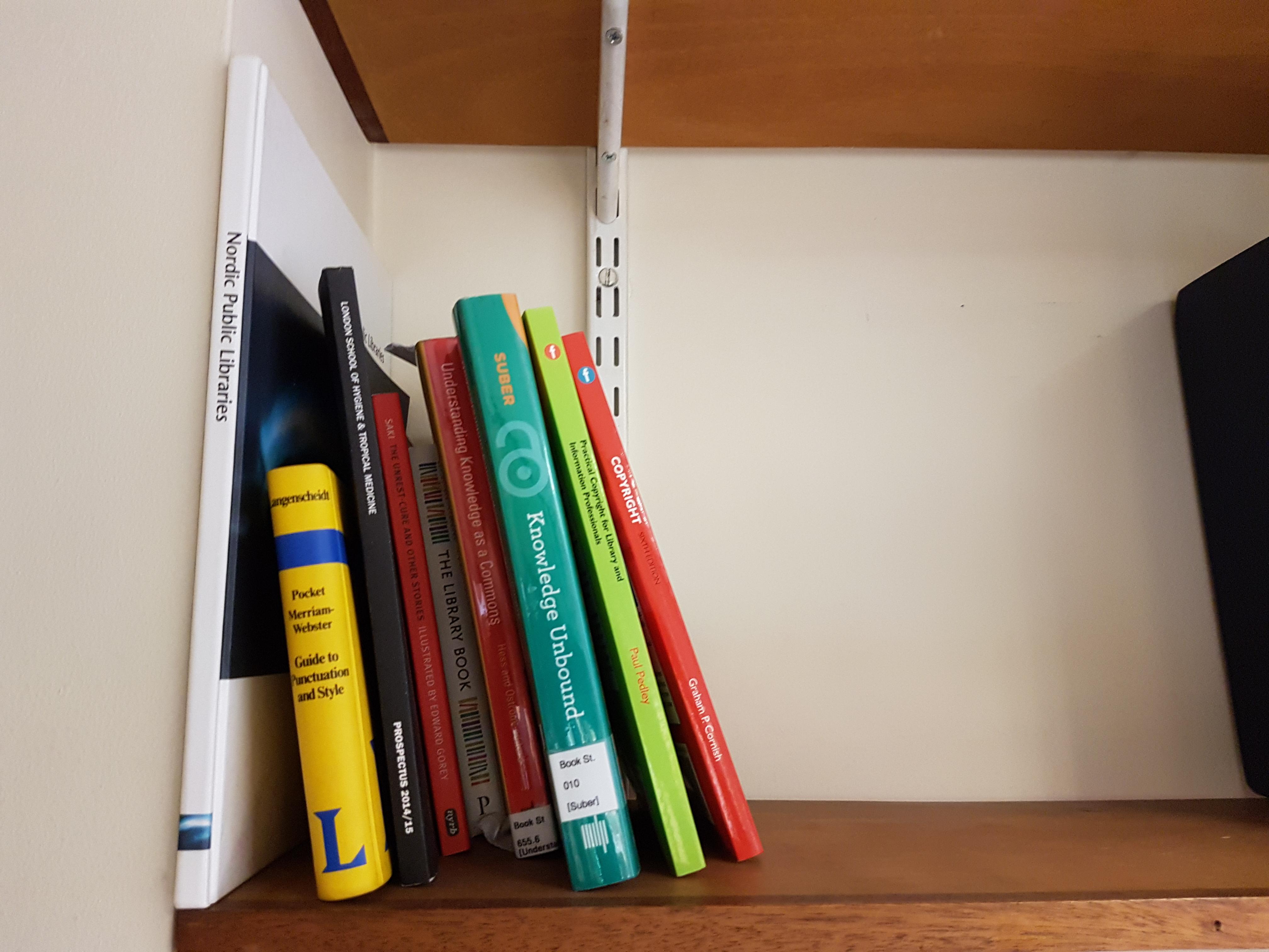 LSHTM Library bookshelf