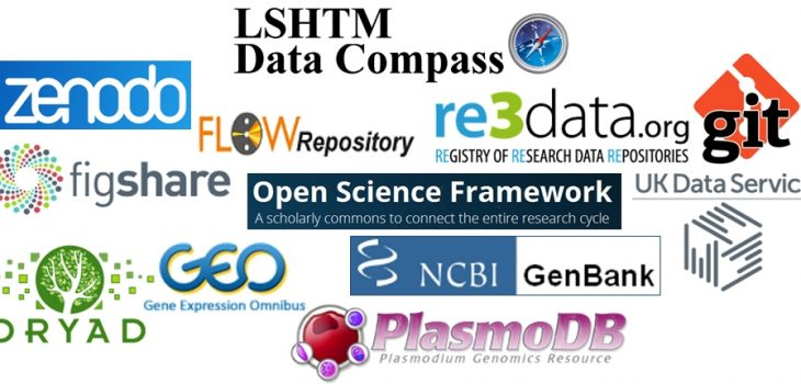 Research data repositories suitable for LSHTM researchers