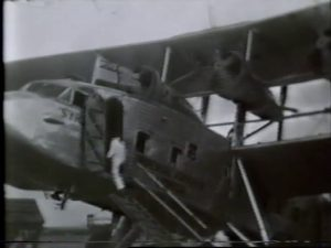 Plane at Croydon Airport, 'Roads of Africa' 1936