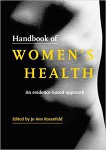 Book: Handbook of Womens Health by Rosenfeld. Image: Amazon.co.uk