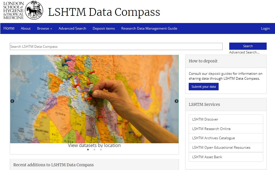 LSHTM Data Compass, the School's research data repository