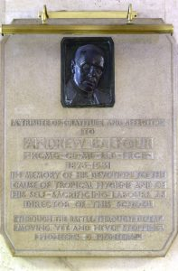 Balfour's plaque at Keppel Street