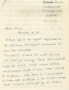 Letter from Richard Schilling regarding formation of SMRU